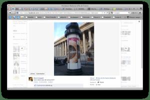 Capture d'écran, page Facebook de l'ONDIF 2011