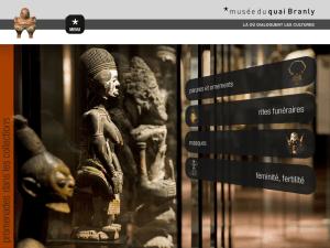 Capture d'écran, app du Musée du Quai Branly