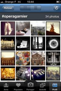 Capture d'écran Instagram © 2011