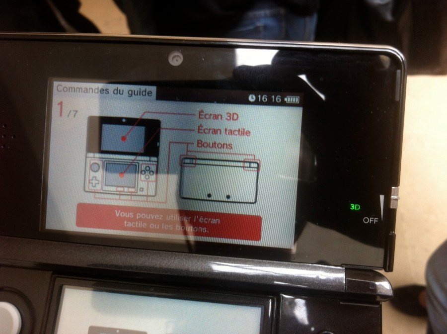 Instructions d'utilisation de l'audioguide Nintendo 3DS