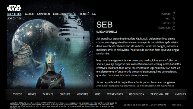 Star Wars Identities : mon avatar