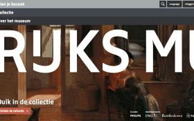 Page d'accueil du site du Rijksmuseum