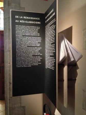 Textes de salles en quatre langues, musée de la Ville de Bruxelles, mars 2016