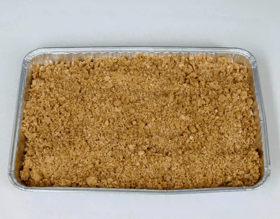 coffee cake bar batter and topping