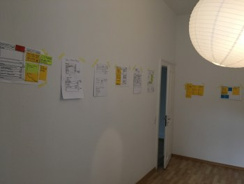 When we run out of whiteboard space, we use the walls!