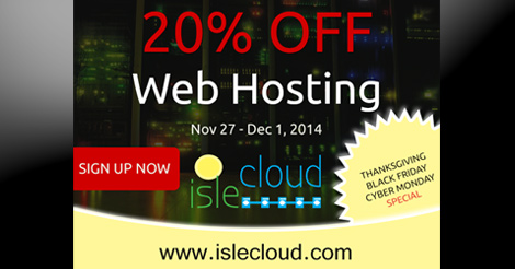 Isle Cloud 2014 Black Friday Special