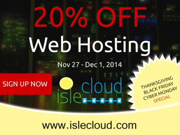 ISle Cloud Black Friday 2014 Sale
