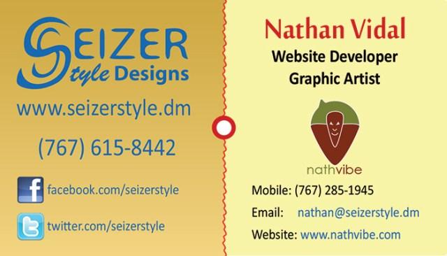 SeizerStyle Designs 2013 business Card