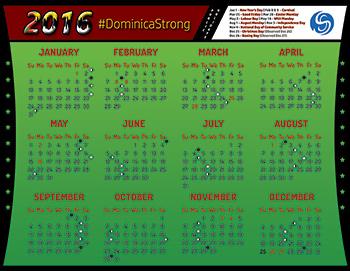 Dominica Strong 2016 Calendar