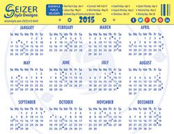 SeizerStyle Designs In My Circle 2015 Calendar