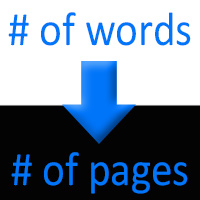 Convert words to pages