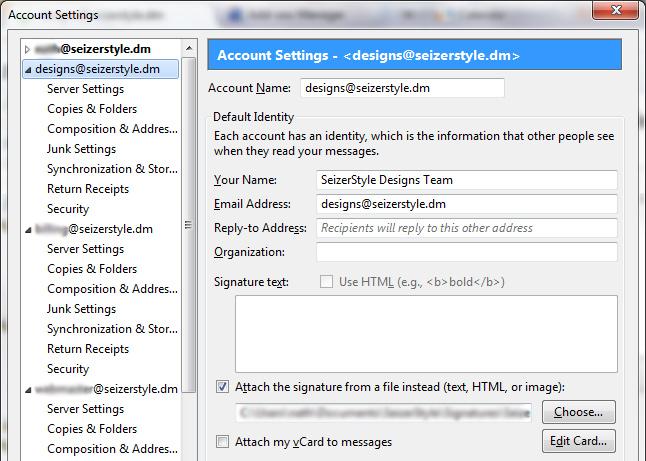 Email Signature Thunderbird 2