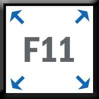 F11 full screen browsing