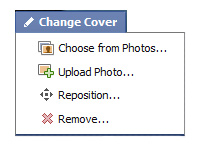 Change cover photo screenshot