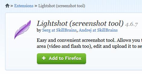 Screenshot of Lightshot add-on