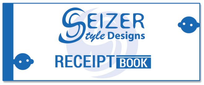 SeizerStyle Designs Receipt Book 2014 Front