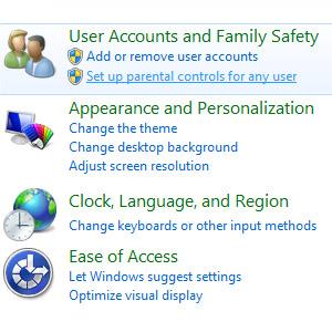 Parental Controls in Windows 7