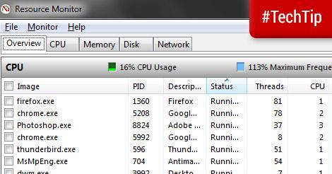 Tech Tip: Resource Monitor