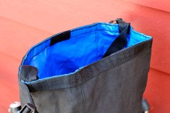 The Cordura liner keeps things dry in the Portland climate