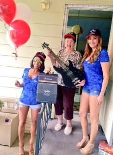 Third winner Dorothea overjoyed with her custom Hard Rock Energy fender guitar!