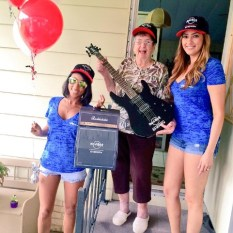Third winner Dorothea overjoyed with her custom Hard Rock Energy fender guitar!