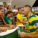 JULY 18, 2015 - ST. PETERSBURG, FLORIDA: The Tampa Bay Rowdies match against FC Edmonton at Al Lang Field on Saturday July 18, 2015. The Rowdies lost the match 1-0. Photo by Matt May/Tampa Bay Rowdies