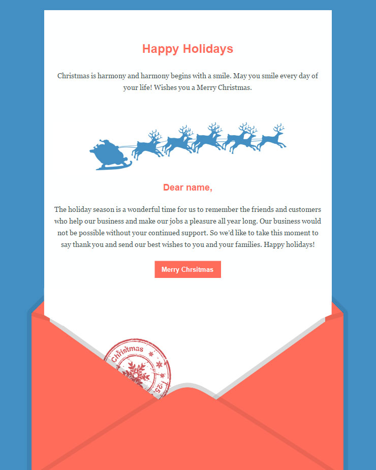 104 20 FREE Christmas and New Year Email Templates – New Year Email Template