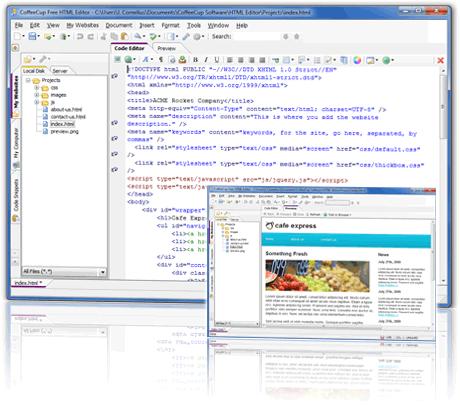 editor html cofeecup