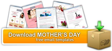 plantilla de email del día de la madre