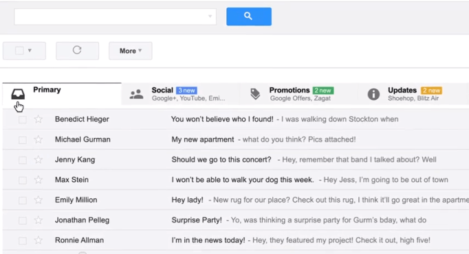 Gmail promotion tab