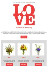 valentine'day email template 4