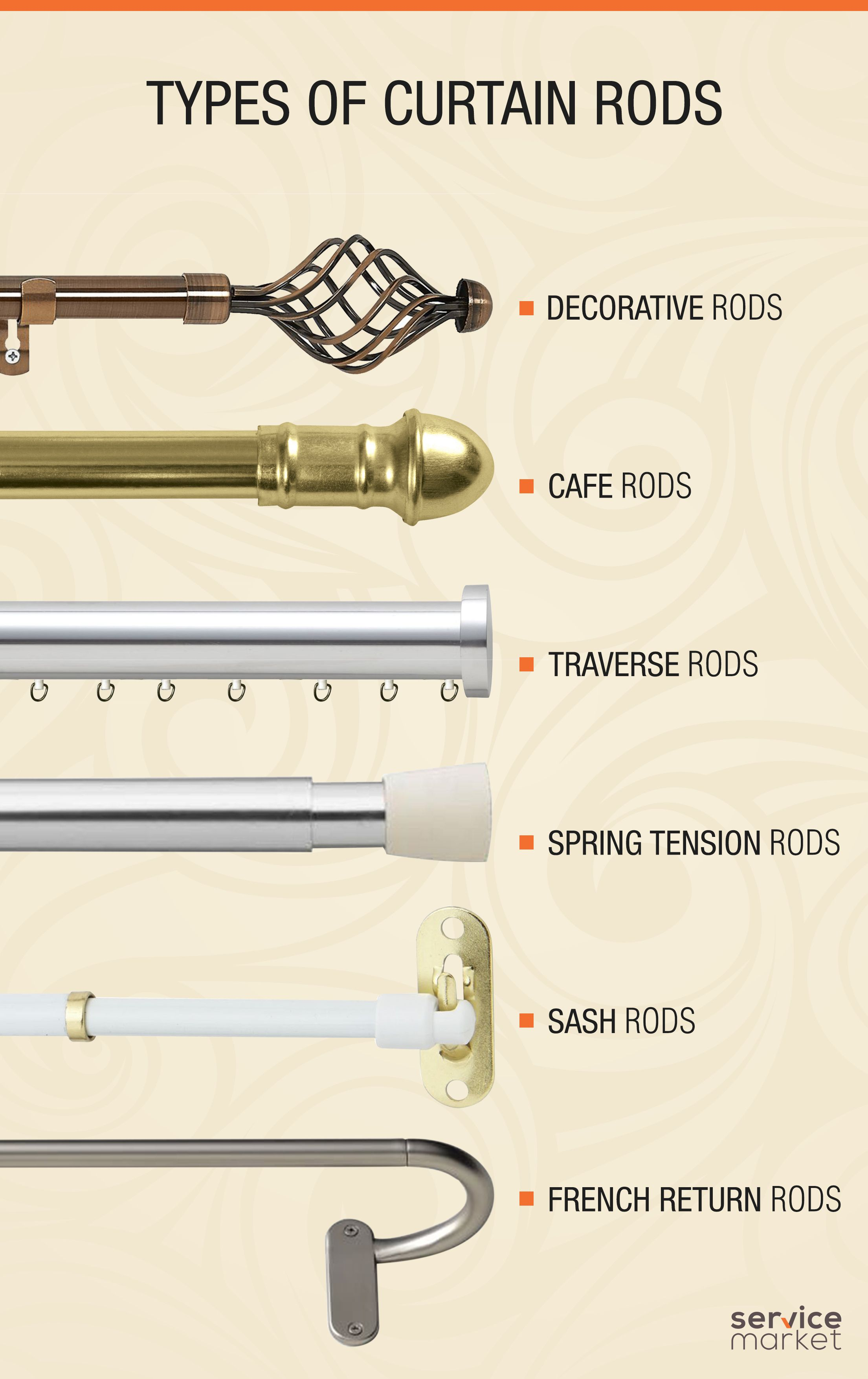 types of curtain rods in dubai the