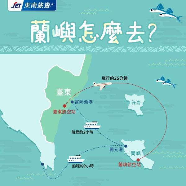 台東富岡漁港-蘭嶼開元漁港 ▶可搭火車/飛機/自行開車前往台東,之後搭船前往蘭嶼,多數人選擇此方式 | 東南旅遊