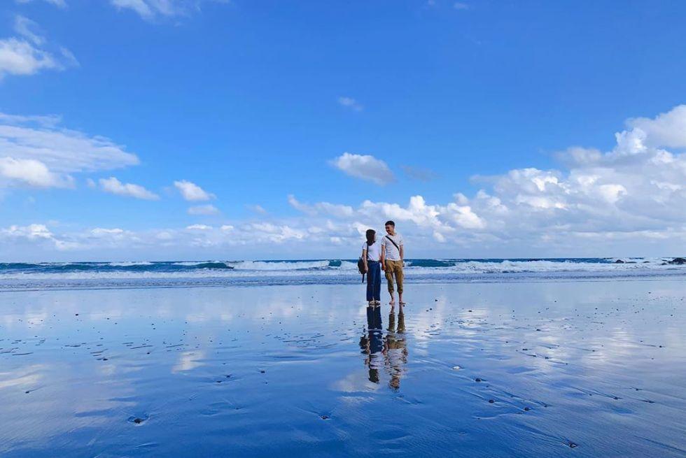 台東都歷沙灘天空之鏡|東南旅遊