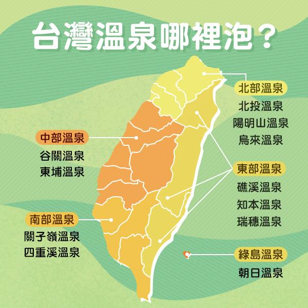 台灣溫泉分布|東南旅遊