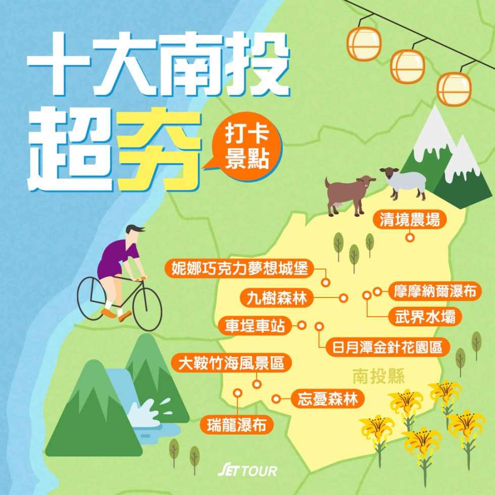十大南投超夯打卡景點地圖|東南旅遊