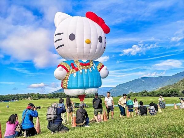 台東縣政府提供hello kitty 熱氣球