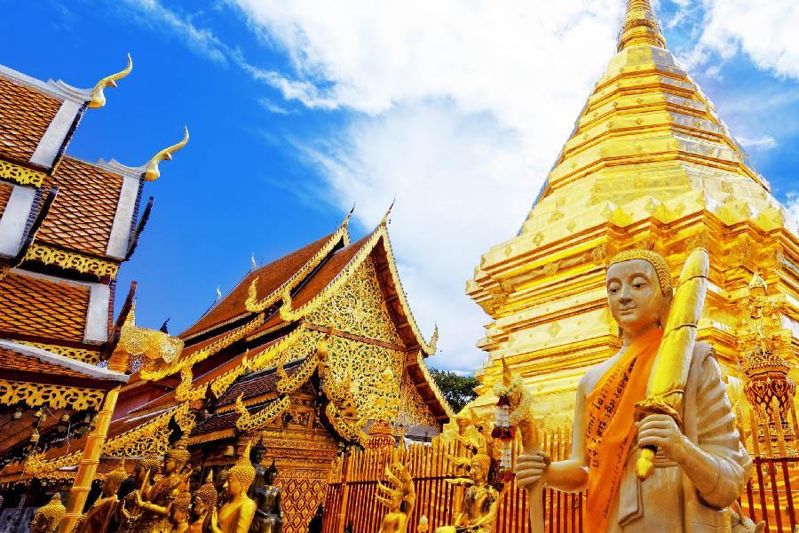 清邁雙龍寺|東南旅遊