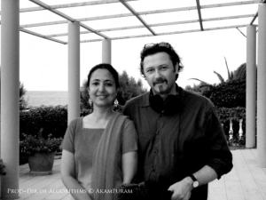 The film couple Geetha J and Ian McDonald