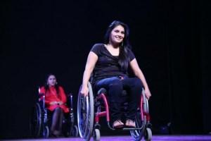 Virali Modi in a wheelchair