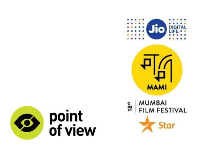 The logos of Point of View, Jio, MAMI, Mumbai Film Festival, and Star.