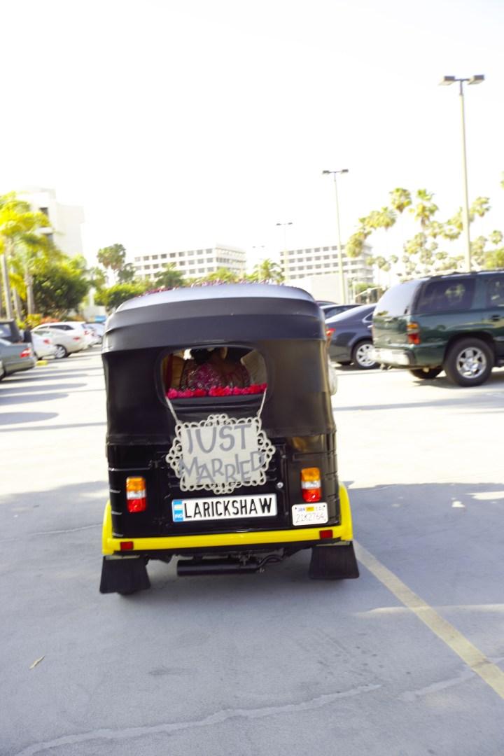 Auto-rickshaw-baraat for an Indian wedding