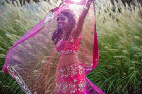 The bride's Bollywood moment! :)