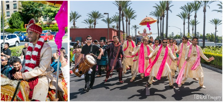 18-Anaheim-Embassy-Suites-orange-county-indian-hindu-gujarati-wedding-photographer-family-baraat-dhol-photos