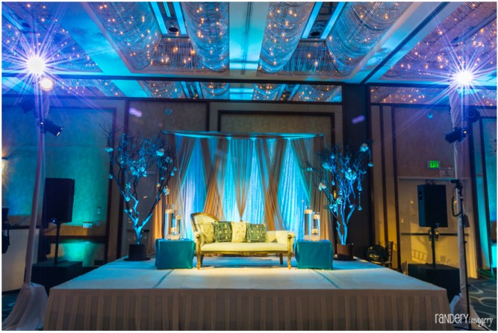 04-California-Long-Beach-Hyatt-Orange-County-Indian-Wedding-Reception-Photographer-ballroom-decor-florals-stage-backdrop