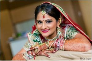 Indian bride's makeup for Indian wedding
