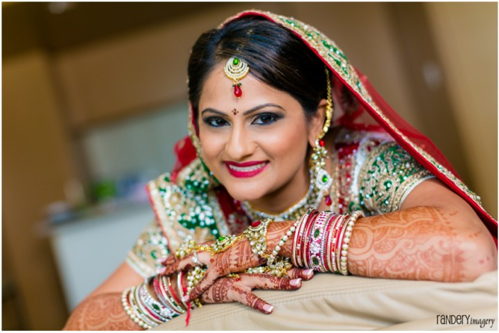 Indian bride's makeup for Indian wedding