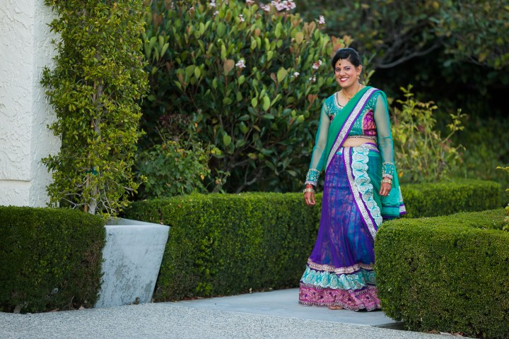 Newport-Beach-Marriott-Indian-Wedding-Photography-sangeet-garba-long-sleeve-lehenga