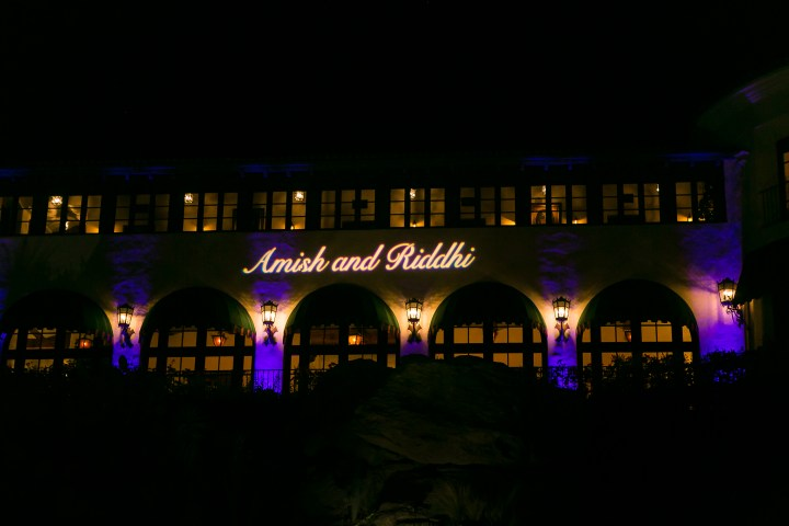 Gobo arranged by Amit Kotecha at #D Sounds for Indian wedding reception.