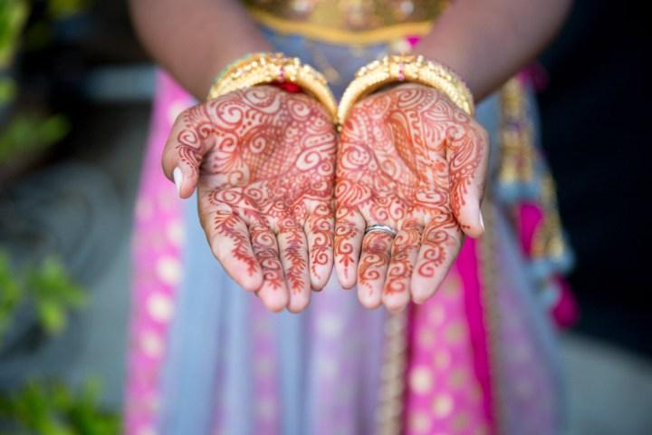 Indian bride's mehndi